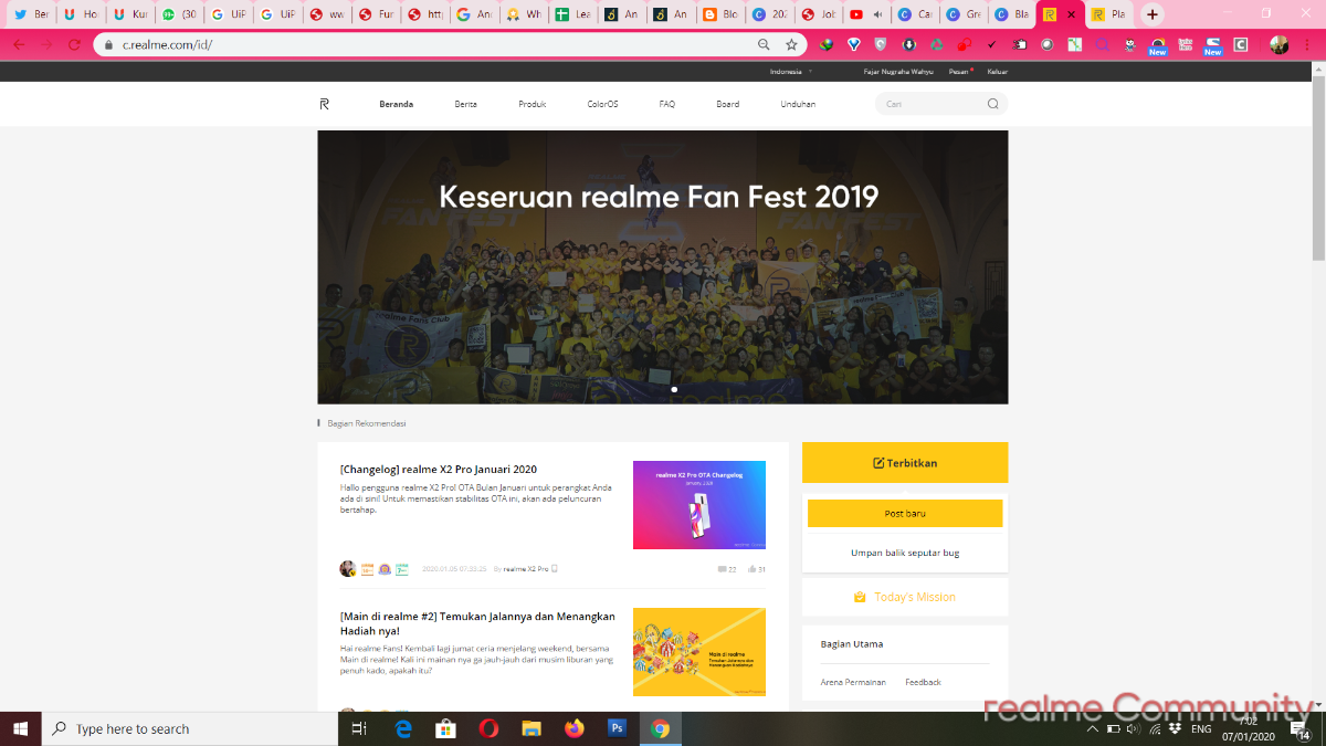 Cara membuat thread di Forum realme
