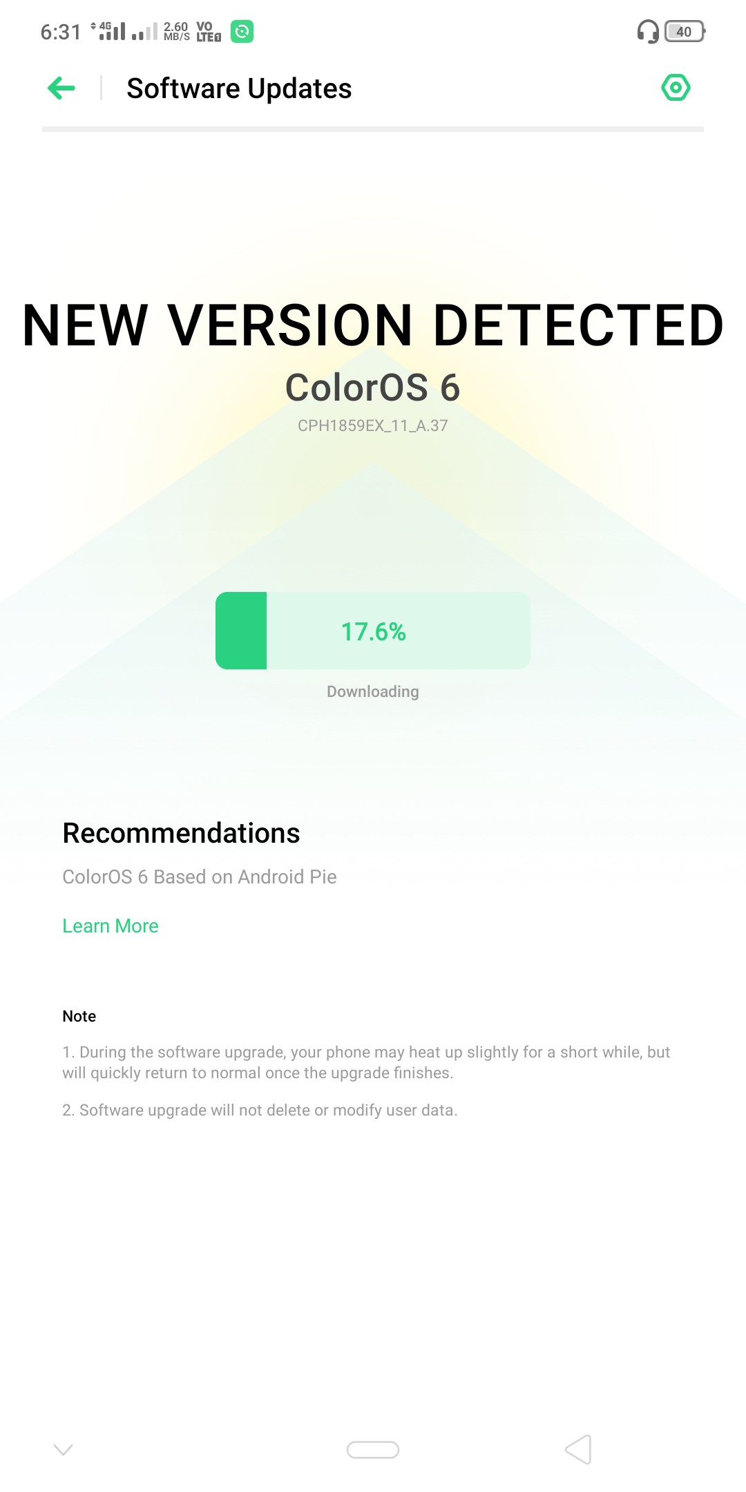 I got the stable update in realme 1 - realme Community