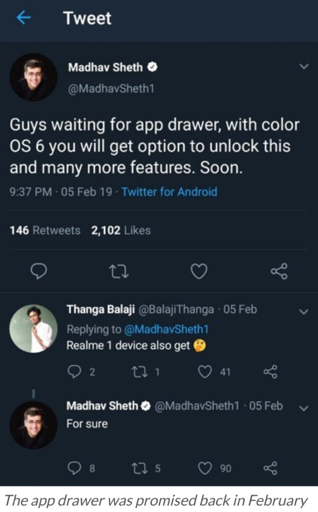 Realme C1 ColorOS 6 (Android Pie 9 0) stable update goes
