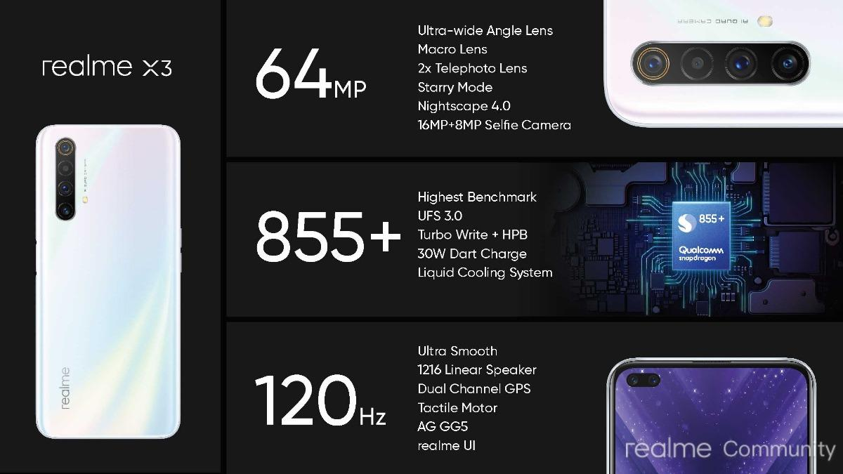 Realme X3 Super Zoom And Realme X3 Features And Specifications