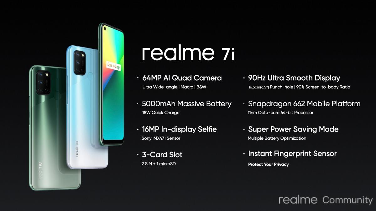 realme 7i : Specifications & Features - realme Community